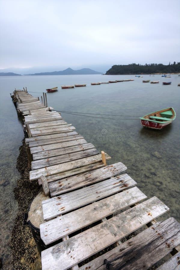 Pair et un bateau photographie stock
