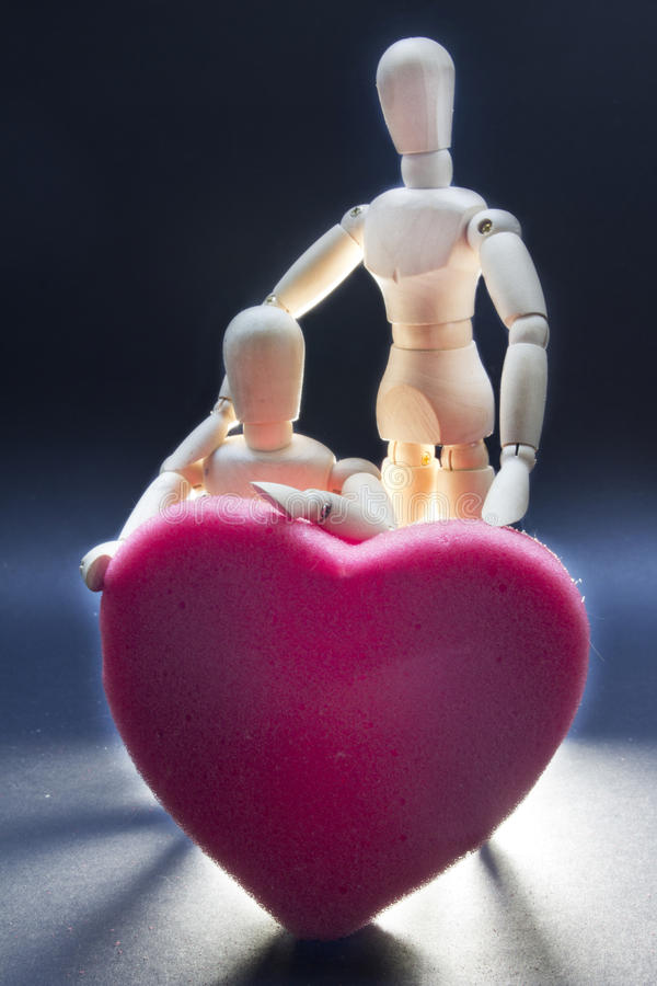 Download Pair Of Expressing His Love Dolls Stock Photo - Image: 22895824