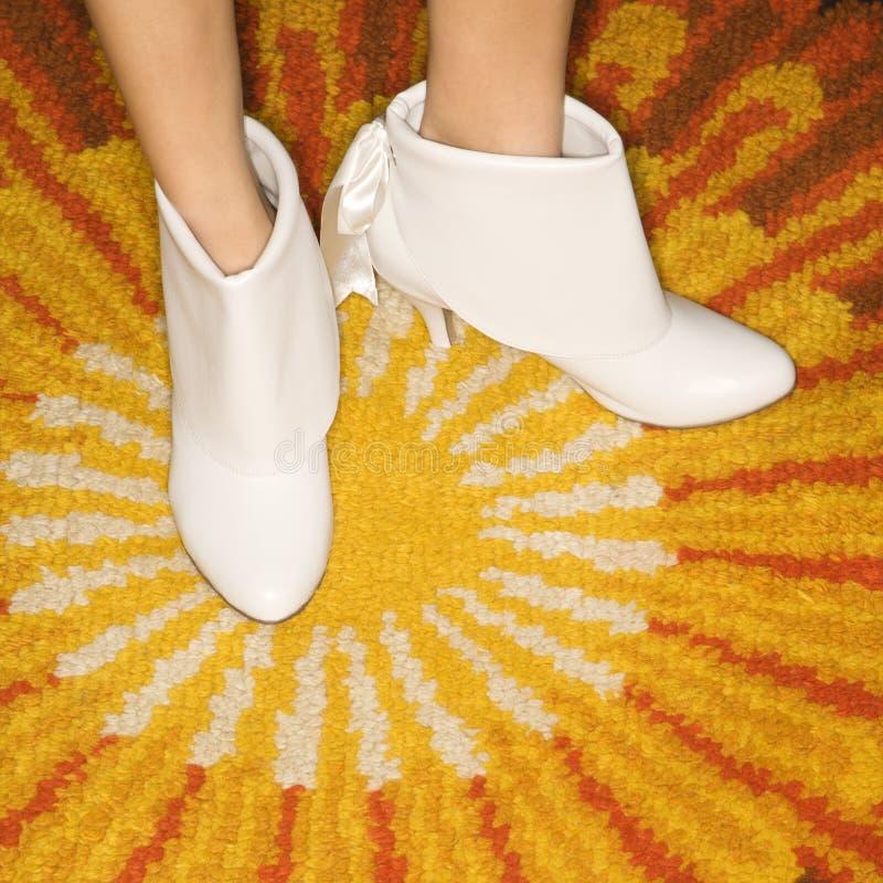 Pair of female feet. stock photo