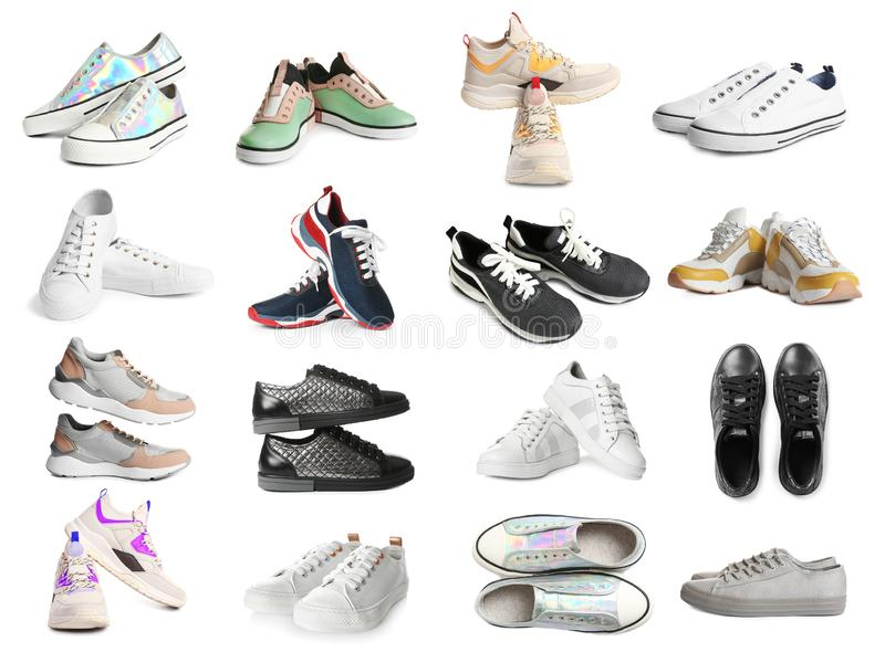 Pair of female shoes royalty free stock photos