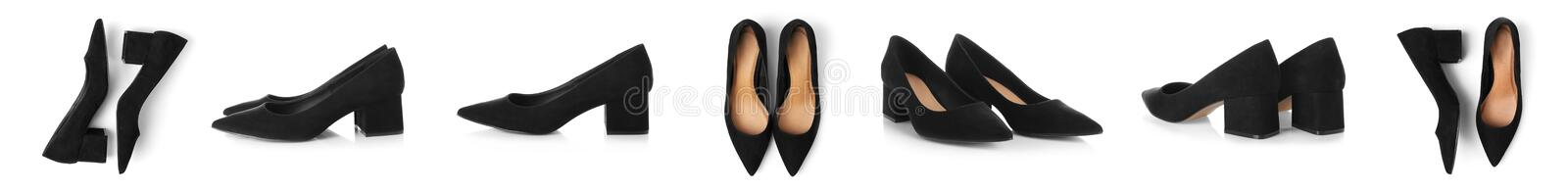 Pair of female shoes stock photo