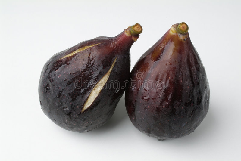 A pair of figs royalty free stock photos