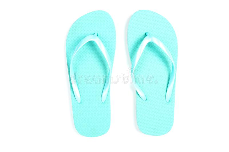 Pair of flip flops. Isolated on white background royalty free stock photos