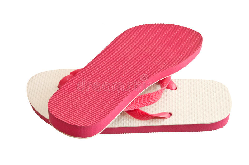 Pair of flip-flops. Isolated on a white background royalty free stock photography