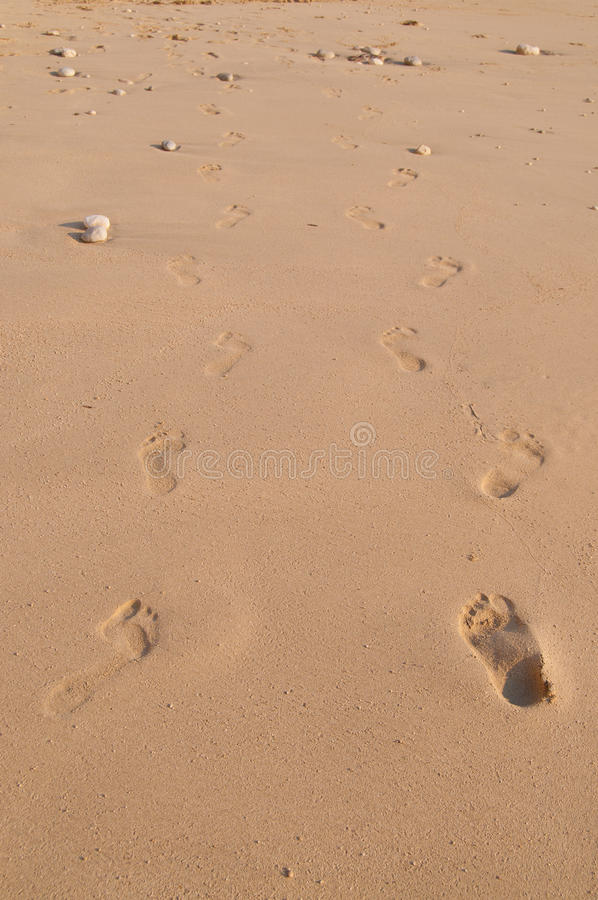 Download Pair Of Footsteps In Sand Stock Photo - Image: 20412230