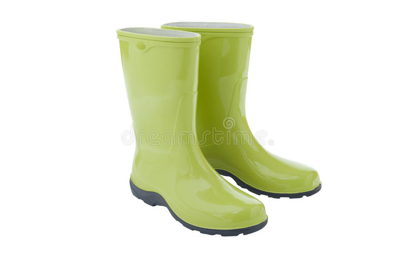 Pair of gardening boots royalty free stock photo