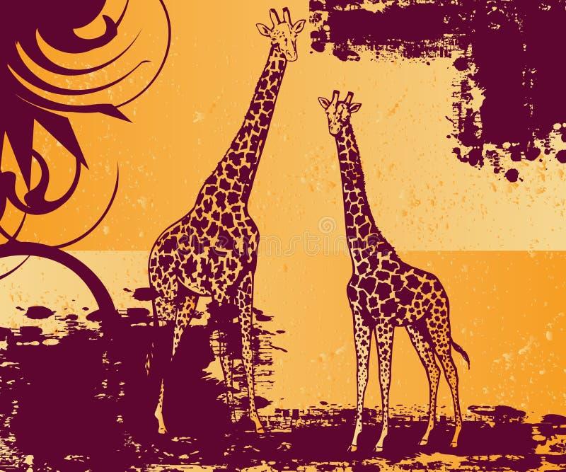 Download Pair of giraffe stock vector. Illustration of inspiration - 10324225