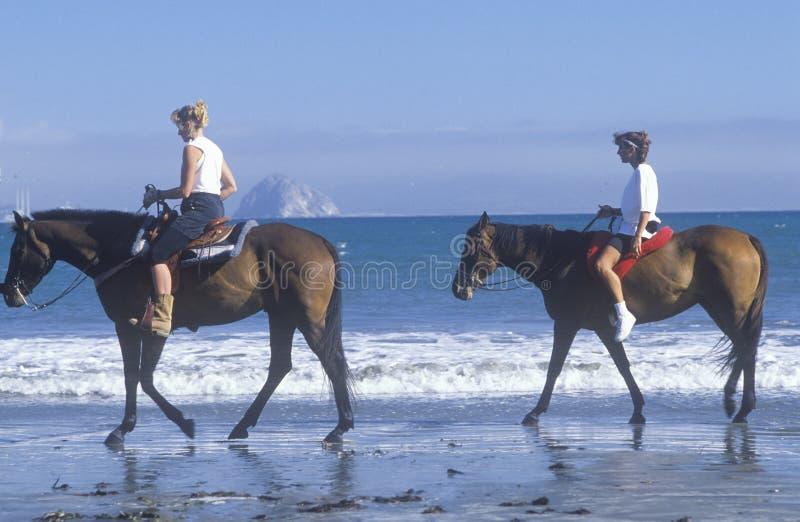 Pair of girls on horseback