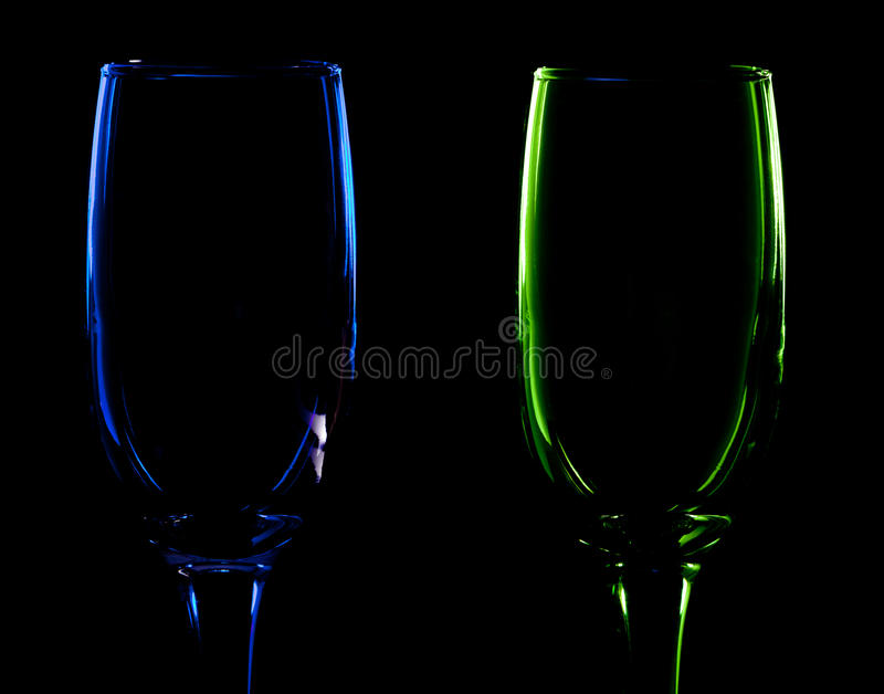 Download Pair of glass stock photo. Image of goblet, subject, green - 30342954