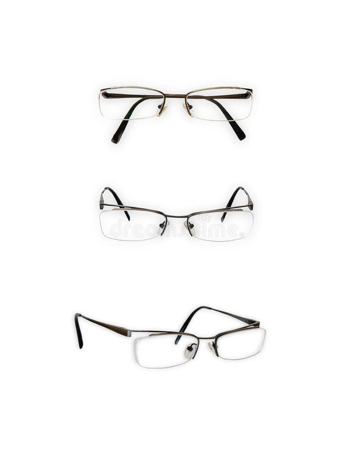 Pair of glasses stock photos