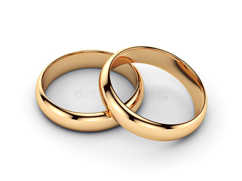 Pair of golden rings stock illustration. Illustration of beauty ...
