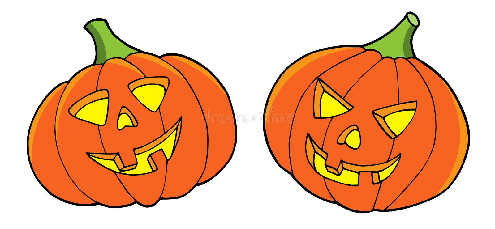 Download Pair Of Halloween Pumpkins Stock Photos - Image: 6620413