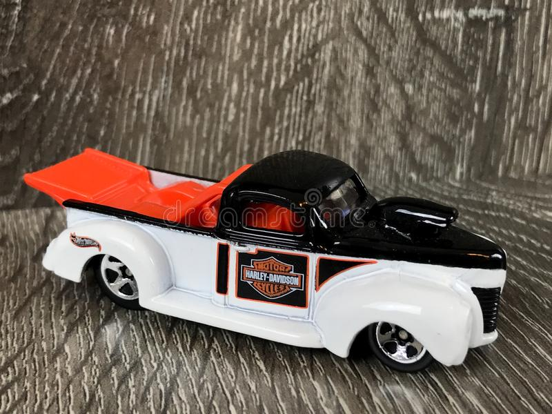 Harley Davidson Die Cast Hotwheels toy. A pair of Harley Davidson Die cast Hotwheels toy royalty free stock photography
