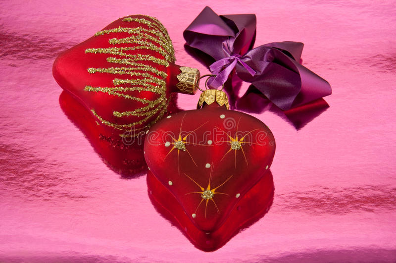 Download Pair hearts stock photo. Image of ornate, gold, symbol - 11695550