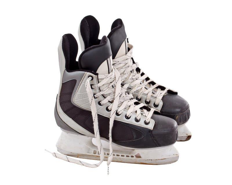 Pair of hockey skates stock image