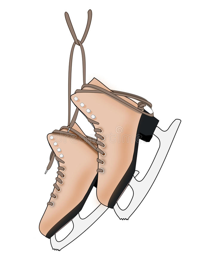 A Pair of Ice Skates stock illustration