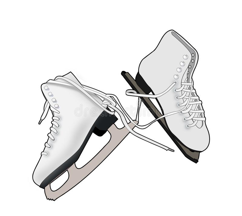 A Pair of Ice Skates. Illustration of a a pair of skates on a white background vector illustration