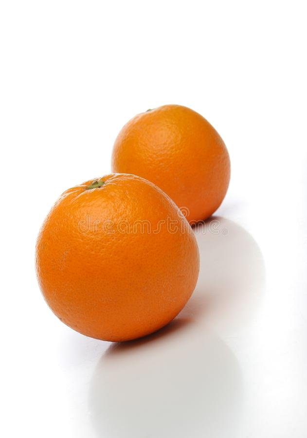 A pair of juicy oranges royalty free stock image