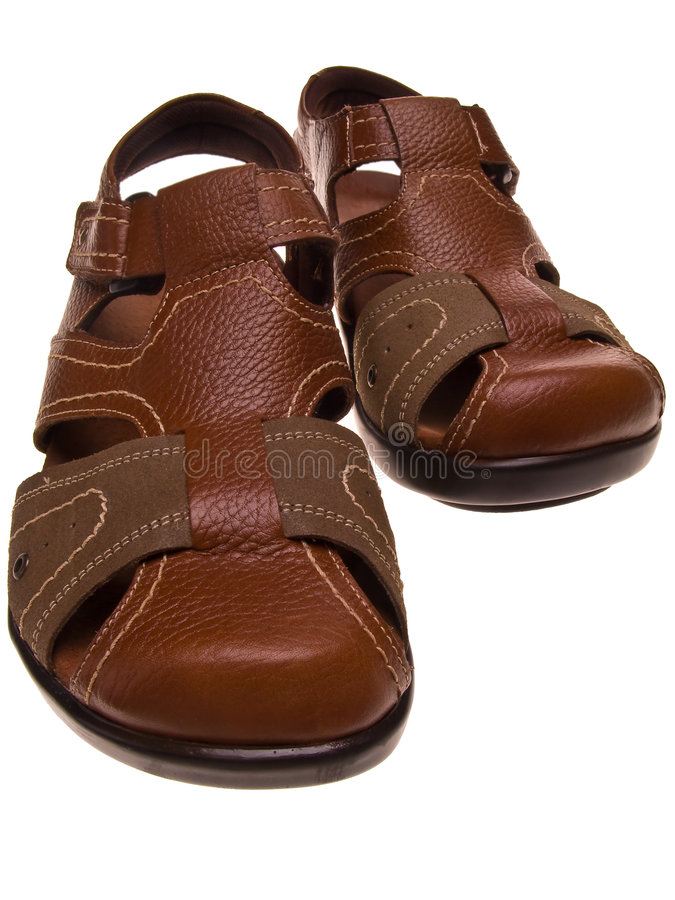 Download Pair of leather sandals stock photo. Image of straps, footwear - 4853356