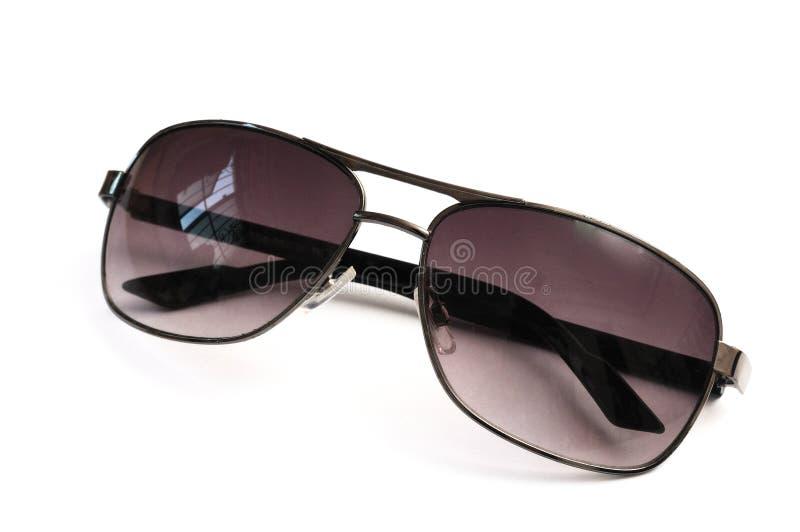 A pair of light purple unisex fashion sun shades stock images