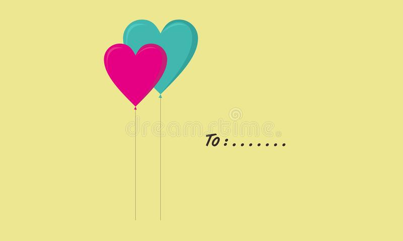 A pair of love balloons royalty free stock images
