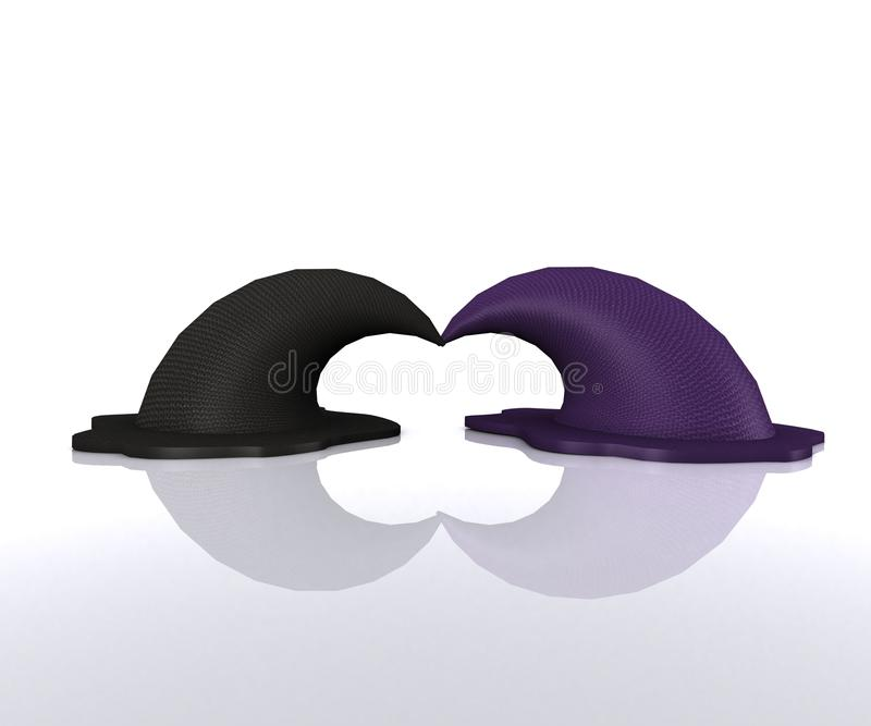 Pair of magical Hats - 3D vector illustration