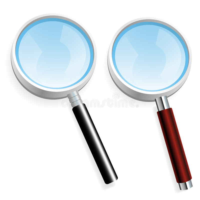 Pair Of Magnifiers Royalty Free Stock Image