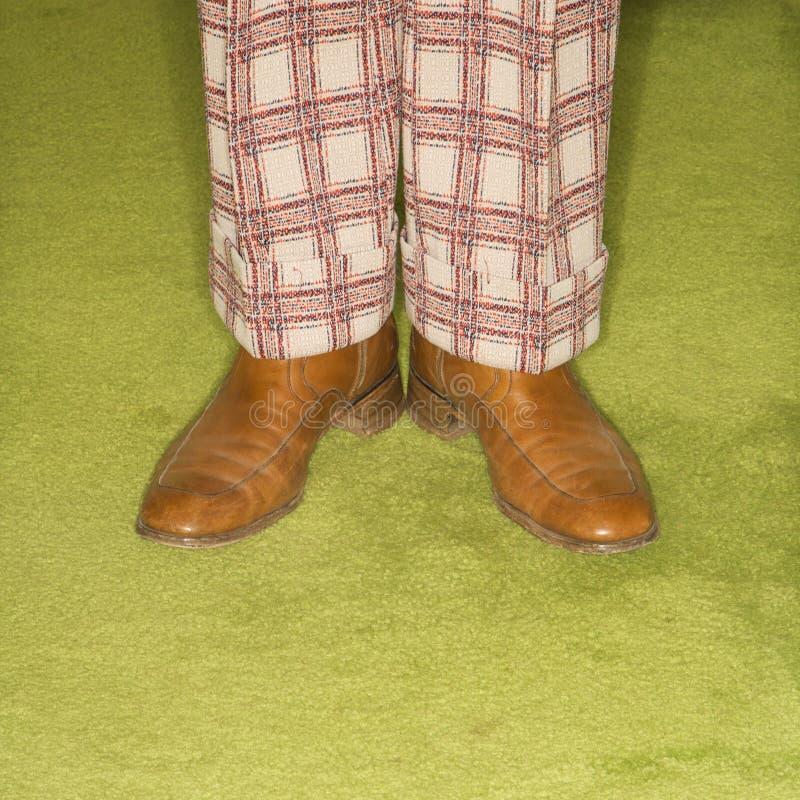Pair of male feet. stock photo
