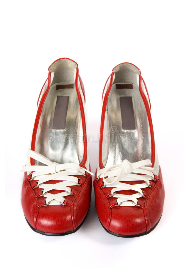 Download Pair Of Modern Female Shoes, Front View Stock Image - Image: 9133561