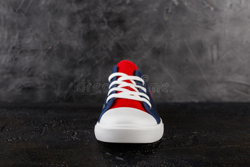 Pair of new sneakers stock image