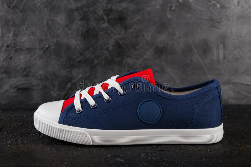 Pair of new sneakers royalty free stock photography