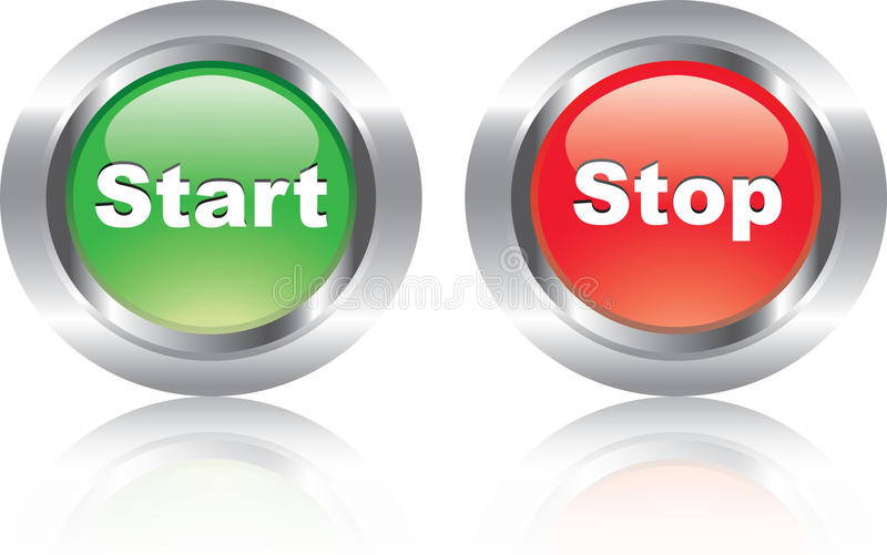 Download Pair Of Nice Glossy Icons Like Buttons Stock Vector - Image: 18906453