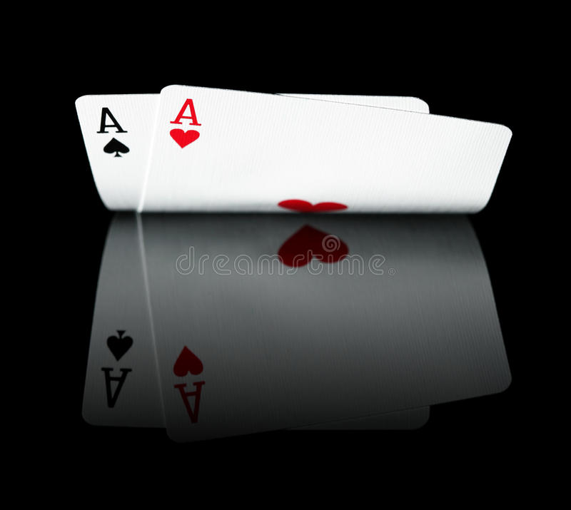 Free Pair Of Aces Stock Image - 16154591