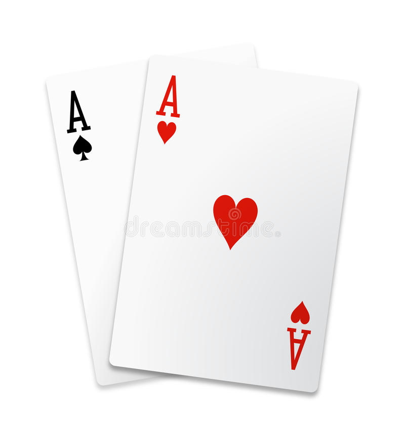 Free Pair Of Aces Isolated Royalty Free Stock Images - 17702789