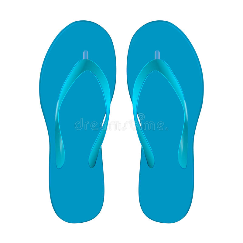 Free Pair Of Beach Sandals Stock Image - 40887561