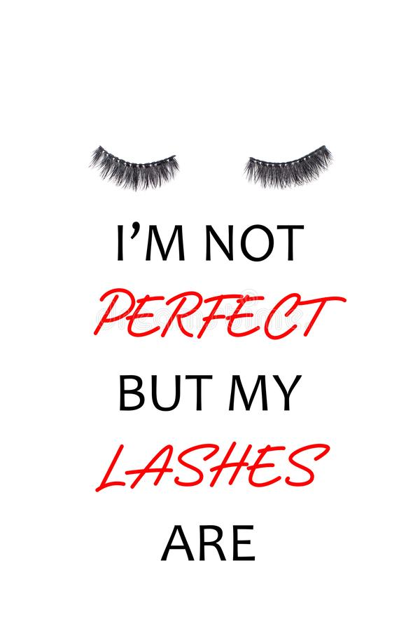 Free Pair Of Long False Lashes Over The White Background Royalty Free Stock Image - 152511556
