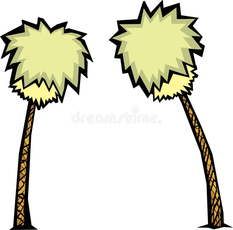 Download Pair of Palm Trees stock vector. Image of tree, tropical - 10604125