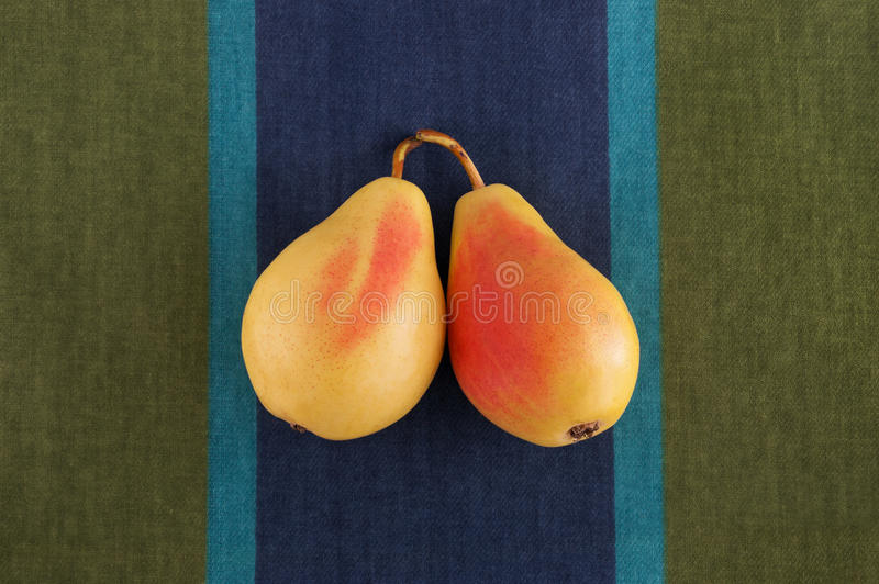 Pair of pears. Still life. royalty free stock images