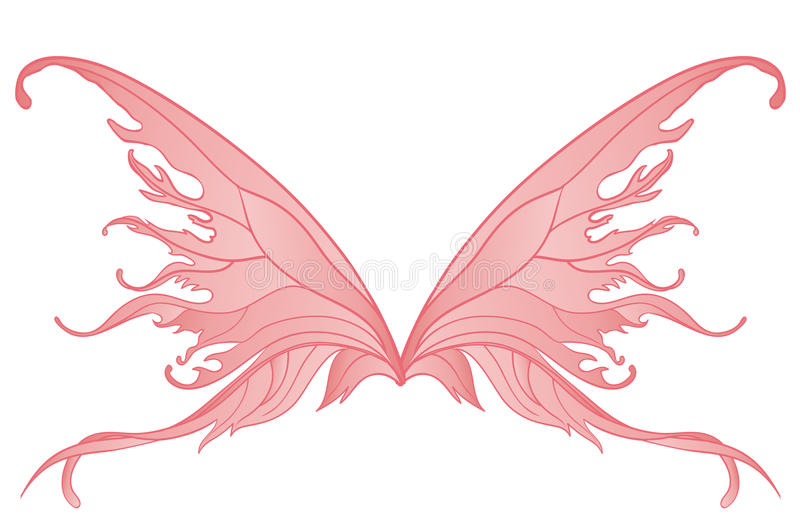 Download Pair of pink fairy wings stock illustration. Image of fairytale - 27188253