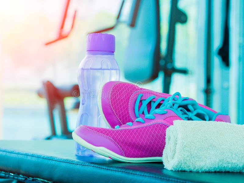 Accessories for running sport and exercise. royalty free stock photos