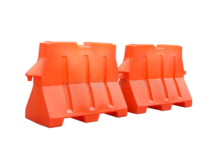 Pair of plastic barriers royalty free stock photos