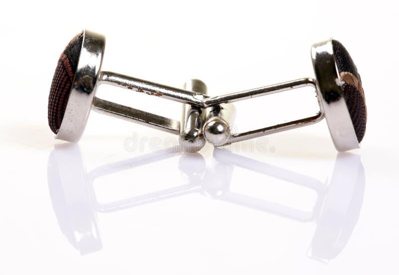 Download Pair of platinum cufflinks stock photo. Image of elegant - 18605374