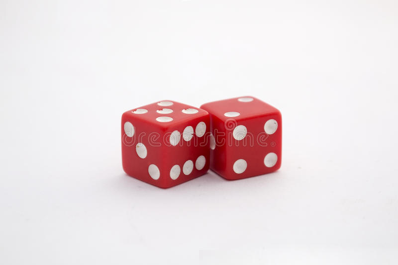 Pair of red dice royalty free stock image