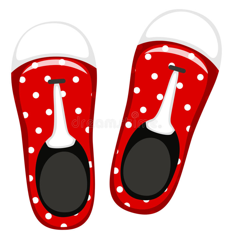 Pair of red shoes royalty free illustration