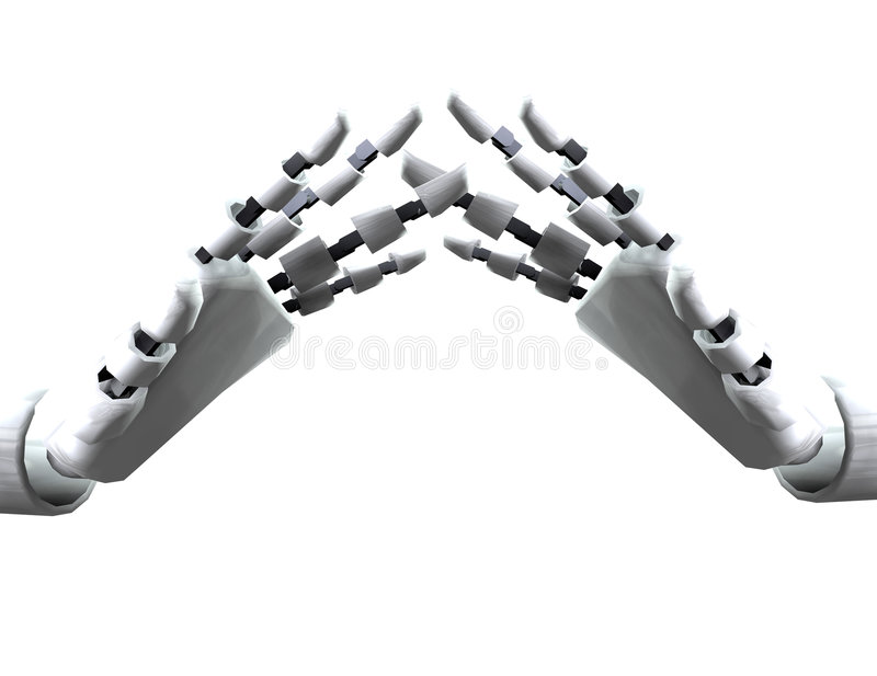 Download Pair Of Robo Hands 2 stock illustration. Image of hand - 4194098