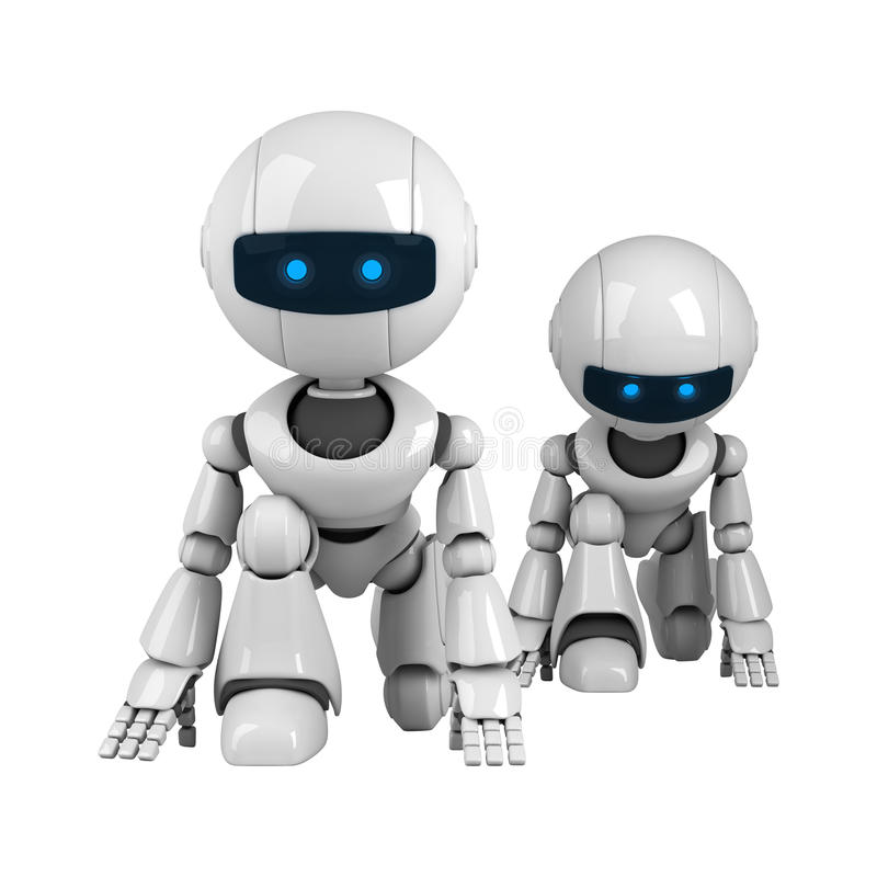 Download Pair of robots stock illustration. Image of read, design - 19714190