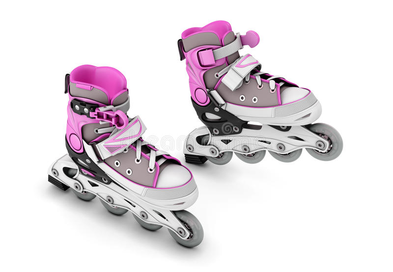 Pair of roller skates stock images