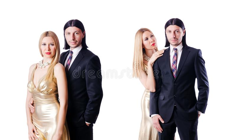 Pair in romantic love concept royalty free stock photos