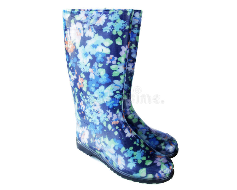 Pair of rubber boots royalty free stock images