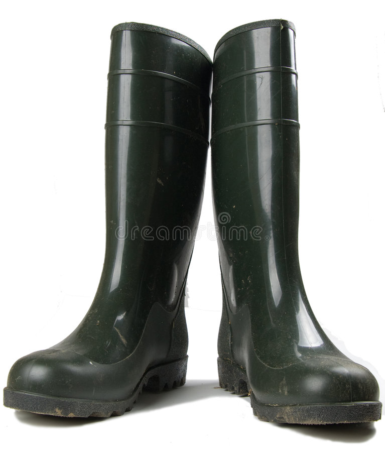 Pair of rubber work boots stock photography